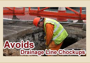 Food Waste Crusher - Avoides Drainage Line Chockups